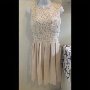 Chi Chi London Cream Color bridesmaid dress